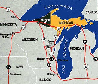 Porcupine Mountains Michigan Map Michigan Map